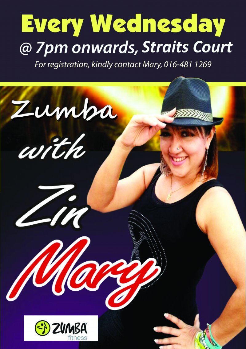 Straits Quay Zumba with Zin Mary     (RECURRING every Wednesday)